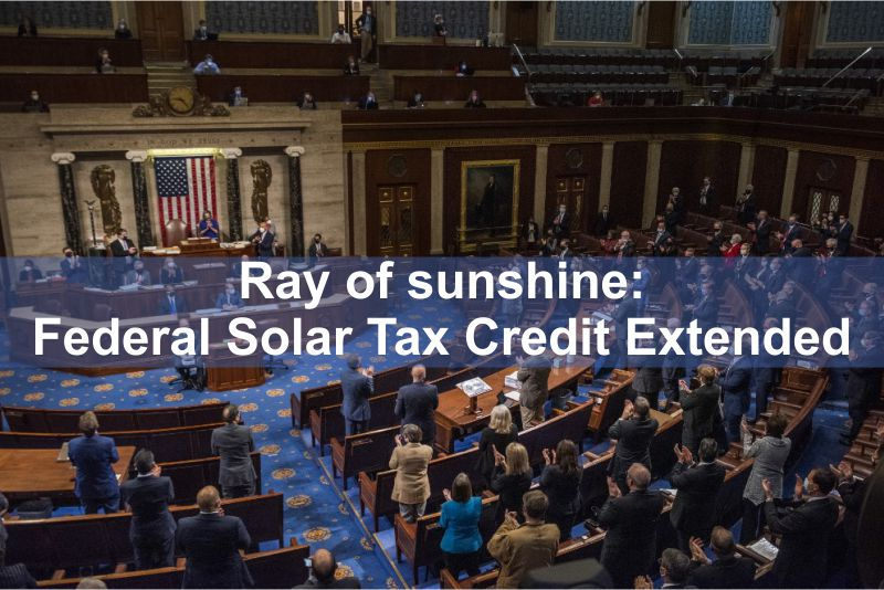 Ray of sunshine: Federal Solar Tax Credit Extended